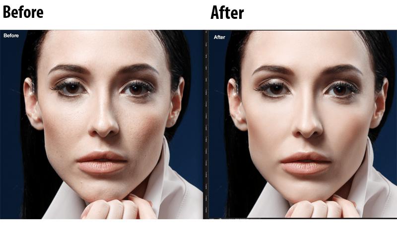 Skin retouching service